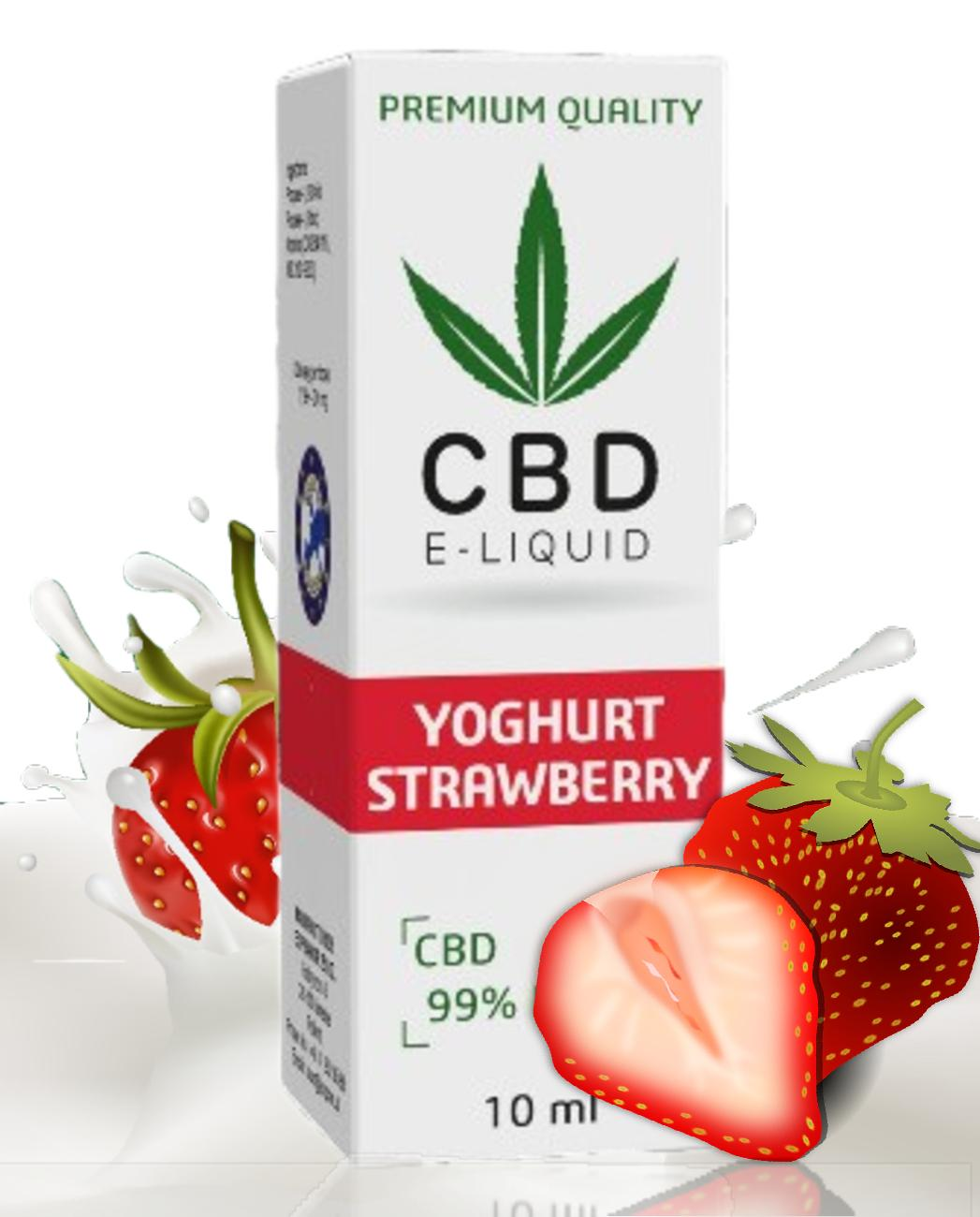 10 ml CBD Vape Liquid - Strawberry Yoghurt 100mg (1%) - SLEVA