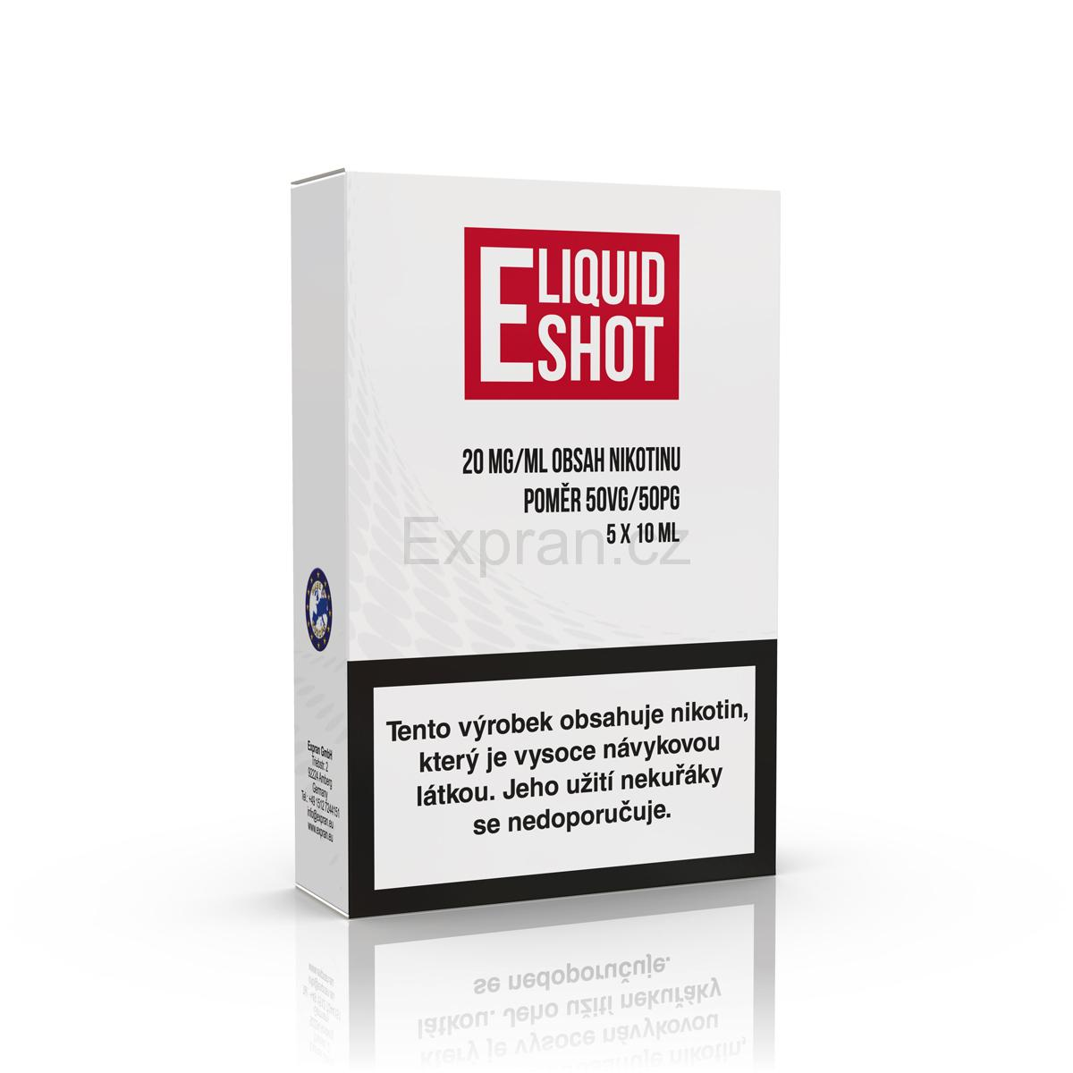 5 pack E-Liquid Shot Booster 50PG/50VG 20 mg/ml
