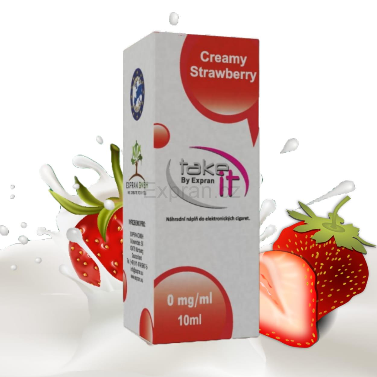 10 ml Take It - Strawberry Cream 6 mg/ml