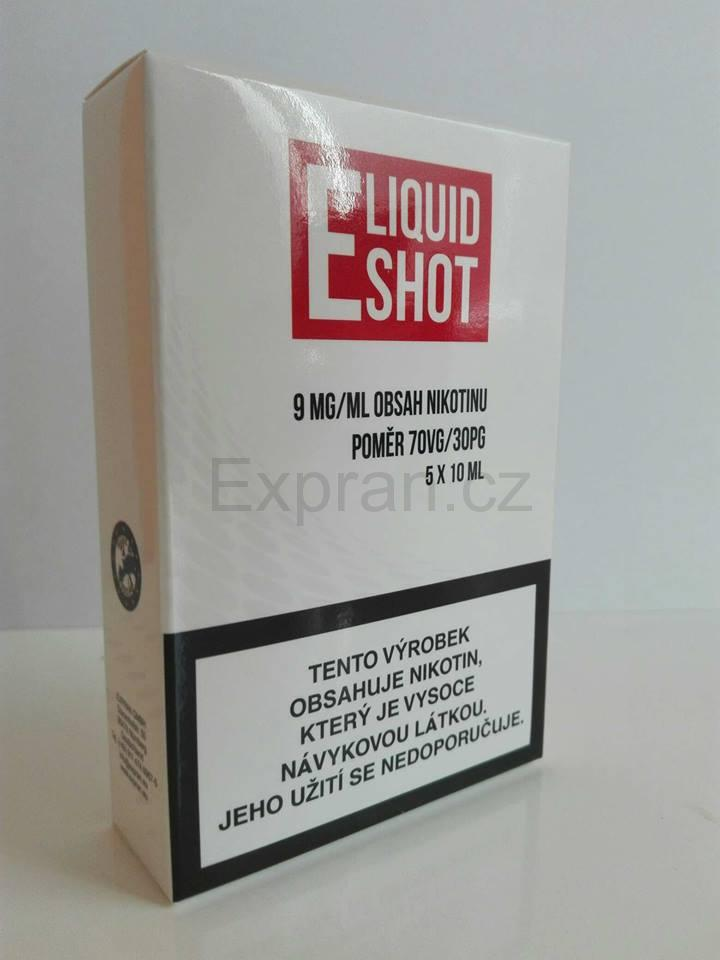 5 pack E-Liquid Shot Booster 30PG/70VG 9 mg/ml