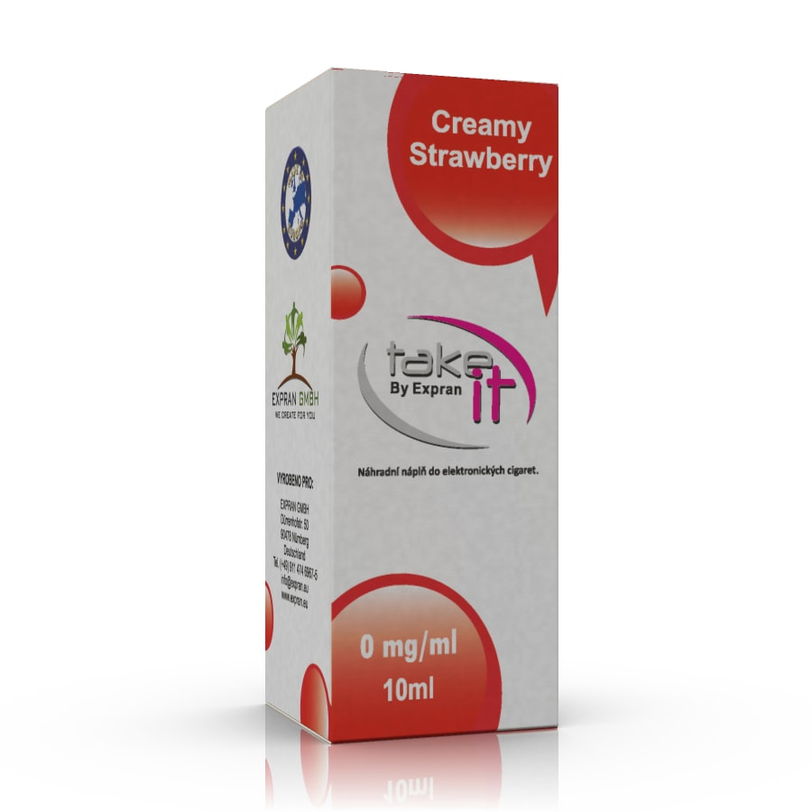 10 ml Take It - Strawberry Cream 0 mg/ml