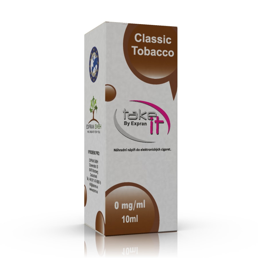 10 ml Take It - Classic Tobacco 0 mg/ml