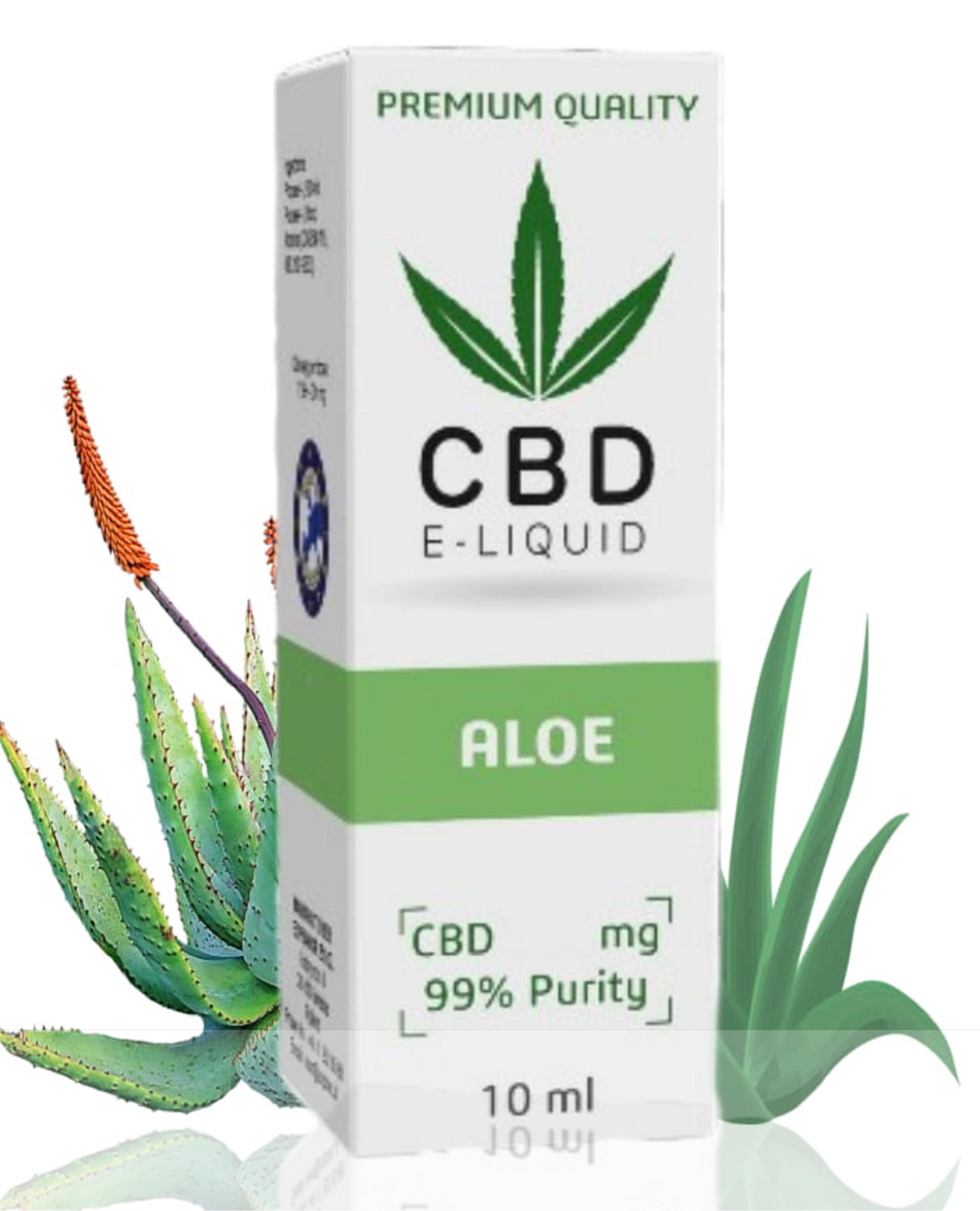 10 ml CBD Vape Liquid - Aloe 600mg (6%)