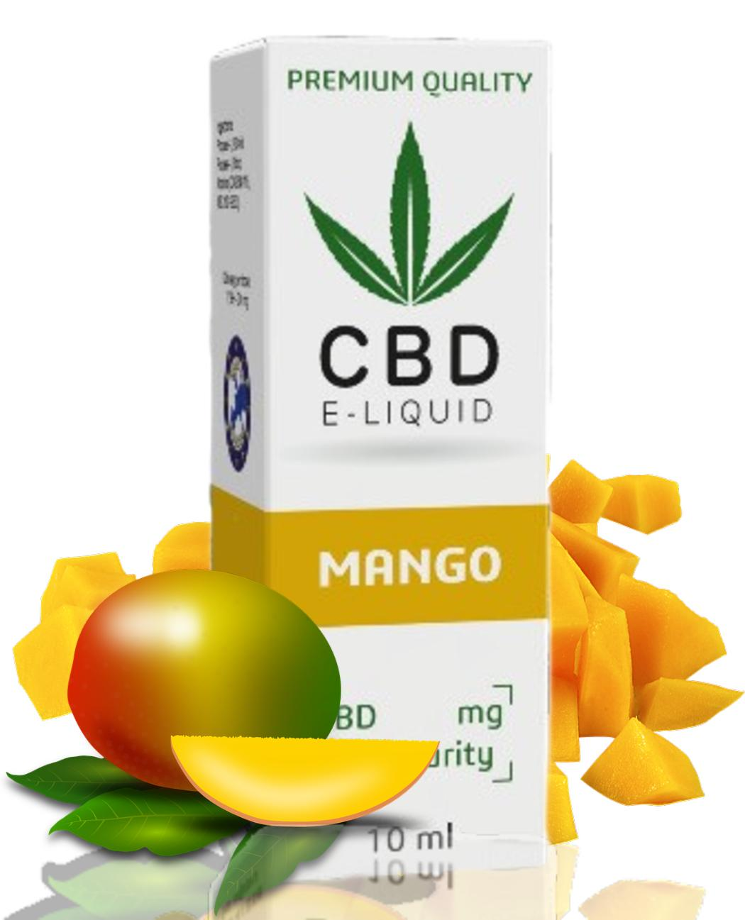 10 ml CBD Vape Liquid - Mango 600mg (6%)