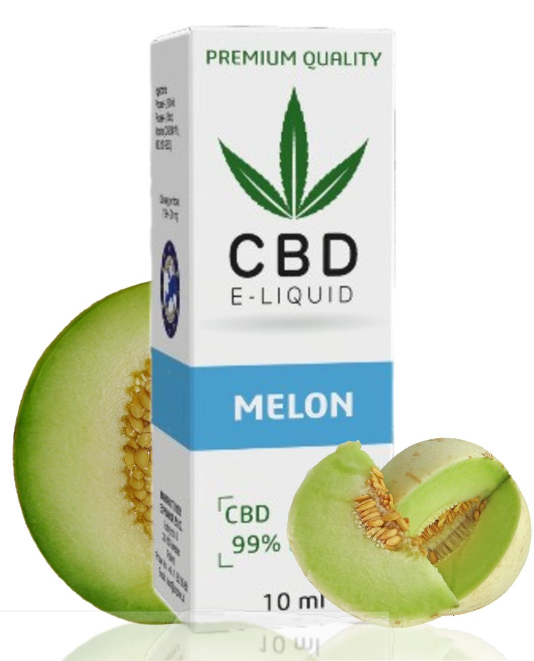 10 ml CBD Vape Liquid - Melon 600mg (6%)